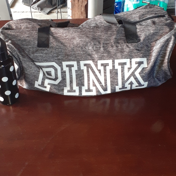 Victoria Secret Pink duffle bag with matching cup